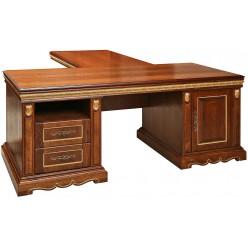 Письменный стол «Милана 2П» П396.02 (черешня с золочением)