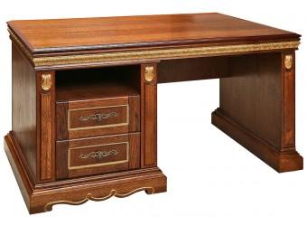 Письменный стол «Милана 4П» П396.07 (черешня с золочением)