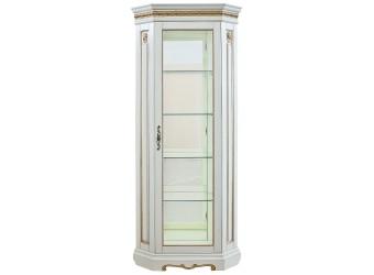 Шкаф-витрина для гостиной «Милана 10» П265.10 (слоновая кость с золочением)