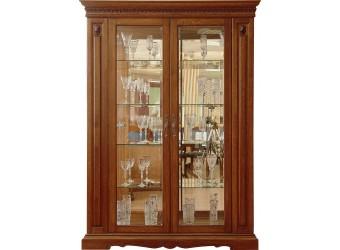 Шкаф-витрина для гостиной «Милана 5» П265.05 (черешня)