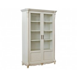 Шкаф-витрина «Алези 2» П350.19 (слоновая кость с золочением)