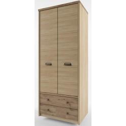Двухстворчатый шкаф для одежды Дизель 2DG2S/D1 дуб веллингтон