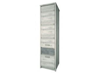 Шкаф-пенал для одежды Джаз 2D1S оникс