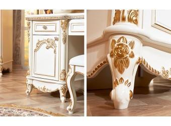 Туалетный столик с зеркалом Даниэлла (крем)