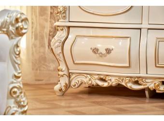 Шкаф 5-х дверный Каролина (крем)