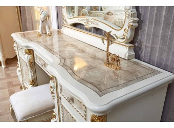 Туалетный столик с зеркалом Констанция (крем)