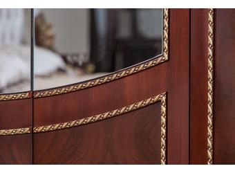Шкаф 5-х дверный Констанция (темный орех)