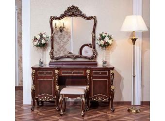Туалетный столик с зеркалом Констанция (темный орех)