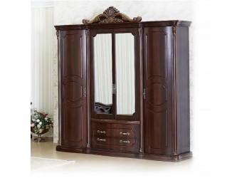 Спальня Меланж (темный орех) 4-х дверный шкаф