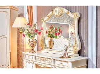 Туалетный столик с зеркалом Федерика (крем)