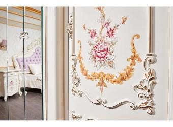 Шкаф-витрина 6-х дверный Венеция Классик (крем)