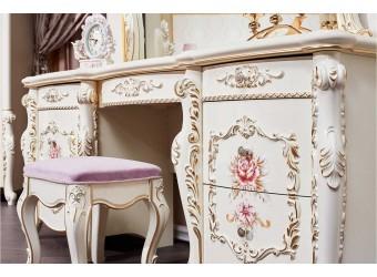 Туалетный столик с зеркалом Венеция Классик (крем)