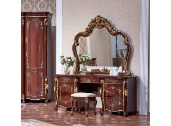 Туалетный столик с зеркалом Венеция (темный орех)