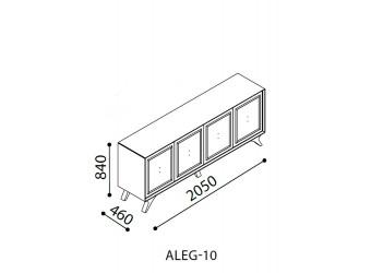 Длинный комод для посуды в гостиную Алегро ALEG-10