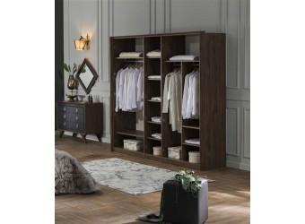 Пятистворчатый распашной шкаф для одежды и белья с зеркалом в спальню Алегро ALEG-33