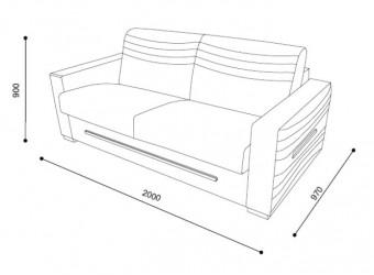 Двухместный диван-кровать FELIX (Феликс) FLX-01
