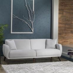 Трехместный Диван-кровать Flexy Флекси (светло-серый)