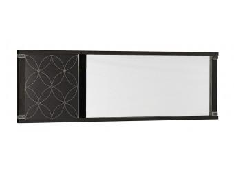 Прямоугольное настенное зеркало в гостиную Мира MIRA-10 венге
