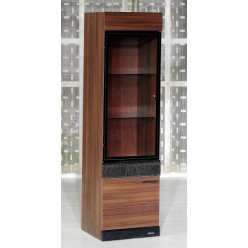 Одностворчатый шкаф витрина для посуды Вера VERA-02