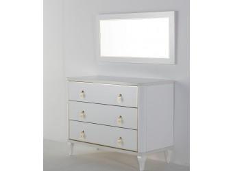 Зеркало для туалетного столика Легенда (Legenda) белый LEGN-24