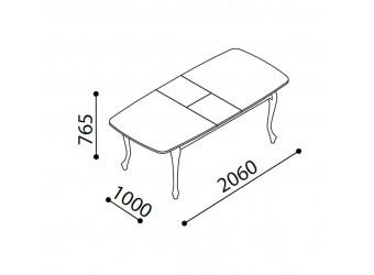 Раздвижной обеденный стол для гостиной Волга(светлый) VOLGA-14