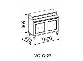 Комод в спальню Волга(светлый) VOLGA-23