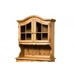 Настенный шкаф-витрина Лотос сосна Б-1076 (искусственное старение)