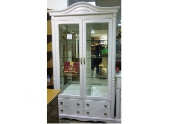 Шкаф-витрина двухдверная Паола БМ-2114 (розовый пепел)