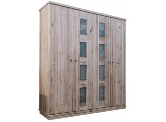 Четырехдверный шкаф для одежды Доминика (серо-бежевый)