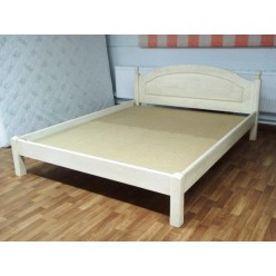Двуспальная кровать Лотос сосна Б-1090-08BRU (брашированный крем) 1400 мм