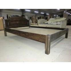 Односпальная кровать Лотос сосна Б-1089-08BRU (брашированный мокко)