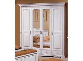Четырехстворчатый шкаф для одежды Паола БМ-2164-01 (розовый пепел)