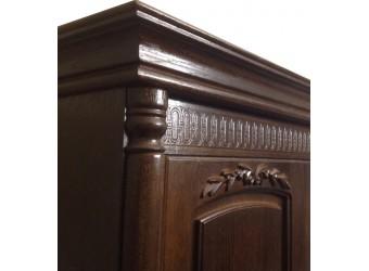Четырехстворчатый шкаф для одежды Паола БМ-2164 (горячий шоколад)
