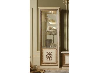 Шкаф-витрина однодверный Анита (бежевый глянец)