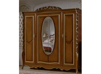 Четырехстворчатый шкаф для одежды Виттория КА-ШК орех