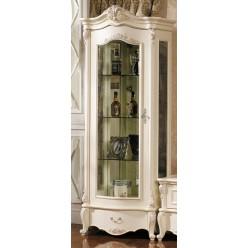 Шкаф-витрина для посуды Лоренцо КА-ШВ-Л белая (левая)
