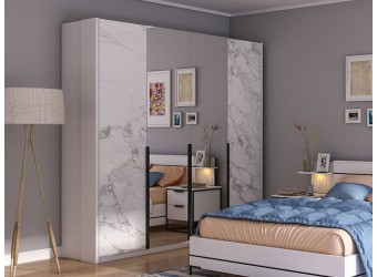 Спальня Норд (Белый/Статуарио)