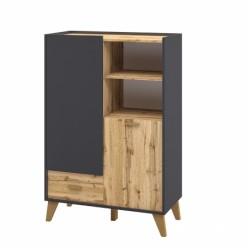 Шкаф комбинированный Сканди МН-036-07(графит)