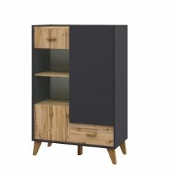 Шкаф комбинированный Сканди МН-036-08(графит)
