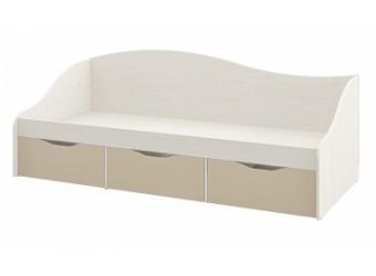 Детская односпальная кровать с ящиками внизу Комби МН-211-02 капучино