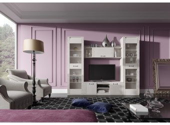 Гостиная Элана от МебельГрад, комплектация 1, цвет Бодега белая