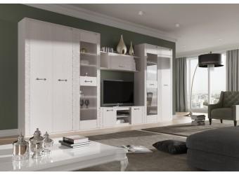 Гостиная Элана от МебельГрад, комплектация 3, цвет Бодега белая