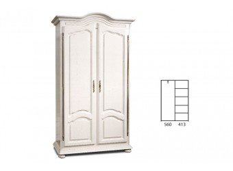 Шкаф 1240 Давиль ММ-126-49 (белая эмаль)