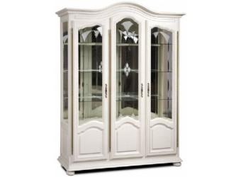 Шкаф с витриной  Давиль ММ-126-15/03 (белая эмаль)