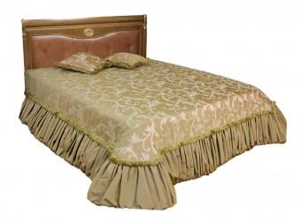 Двуспальная кровать Лика ММ-137-02/Б (медовый дуб+зп) без изножья