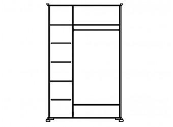 Шкаф для одежды Лика ММ-137-01/03Б (медовый дуб+зп)