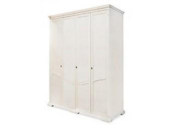 Шкаф для одежды Лика ММ-137-01/04Б (белая эмаль)