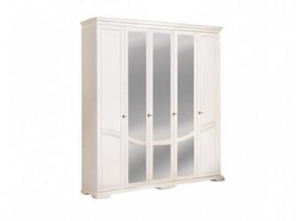 Шкаф для одежды Лика ММ-137-01/05 (белая эмаль)