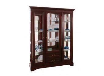 Шкаф с витриной Полонез ММ-174-09 (черешня)