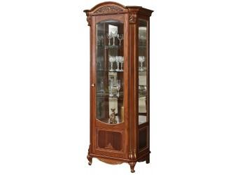 Шкаф с витриной «Альба 8» П485.08 (палисандр с золочением)